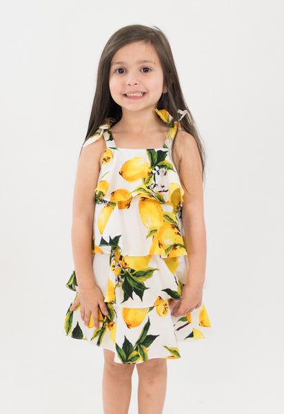 D&D Petite: Lemon 4-Tiered Dress