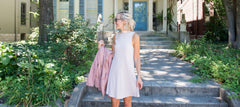 Heather Mock Neck A Line Dress