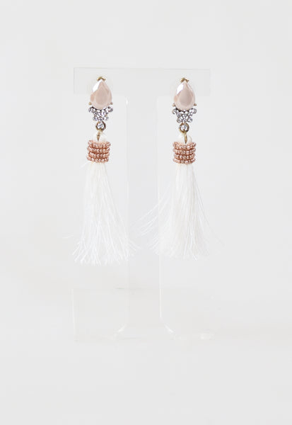 Gyspy Tassel Earrings - Ivory