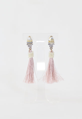 Gyspy Tassel Earrings - Mauve