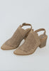 Ara Slingback Cut Out Booties - Camel