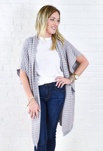Dana Striped Cardigan