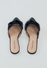 Black Velvet Bow Slides