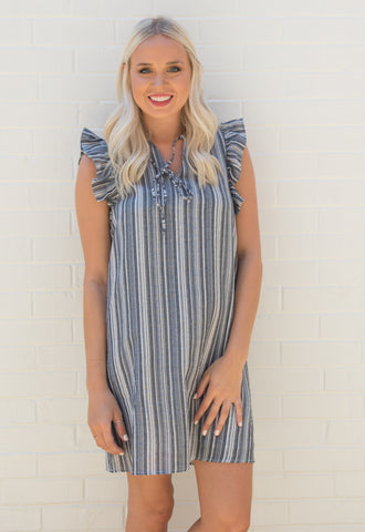 Colleen Ruffle Shift Dress