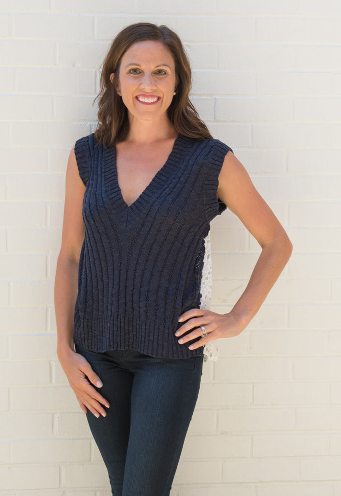 Ezra V Neck Sweater Top