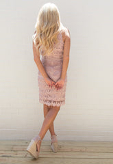 Jolie Ruffle Lace Fringe Dress