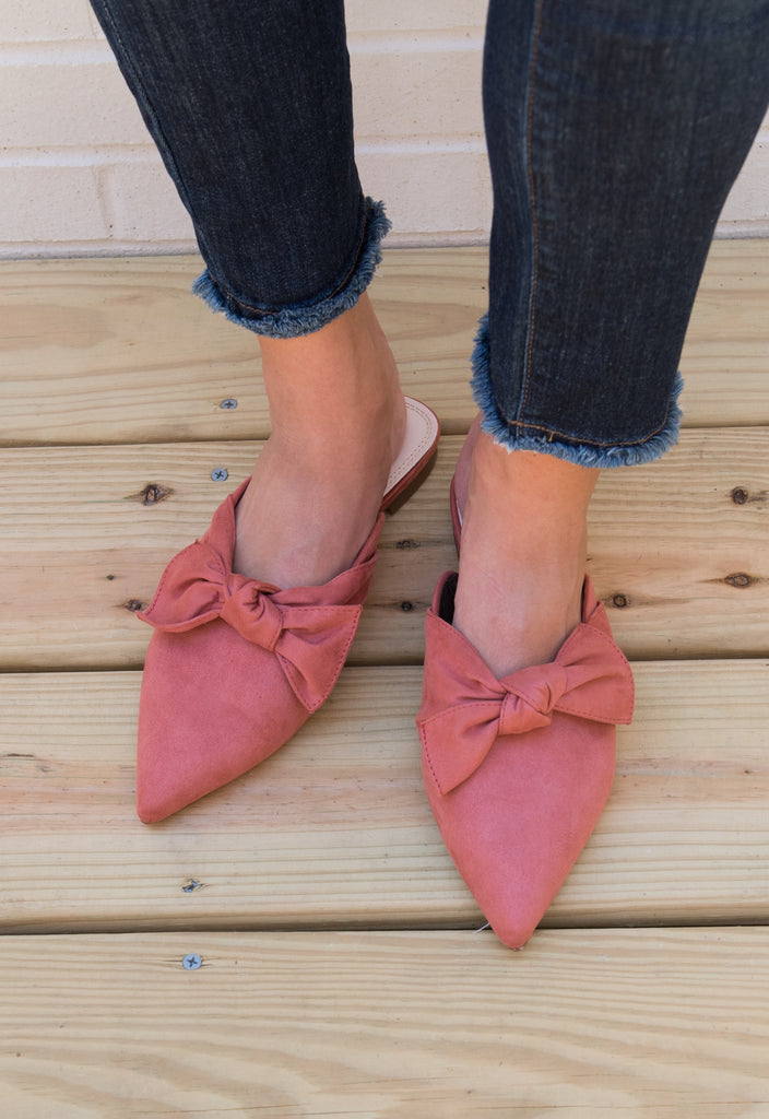 Willa Bow Slides - Blush
