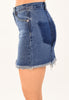 Edgy Fray Denim Skirt