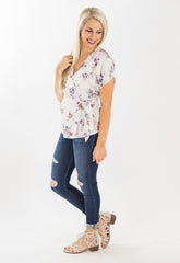 The Layla Floral Wrap Top