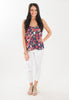 Navy Flower Cami