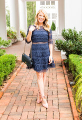 Gina A Line Lace Dress