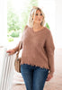 Matilda Distressed Sweater - Mauve