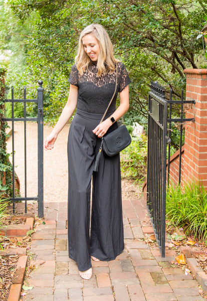 Georgia Mock Neck Jumpsuit - Black
