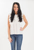 Corette White Ruffle Lace Top