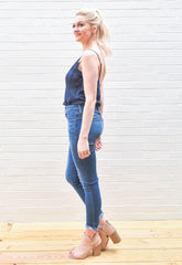 Annie Basic Bodysuit - Navy