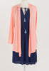 CURVE: The Lightweight Natalie Cardigan - Peach