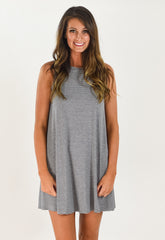 Ultimate Tank T-Shirt Dress - Grey/Black
