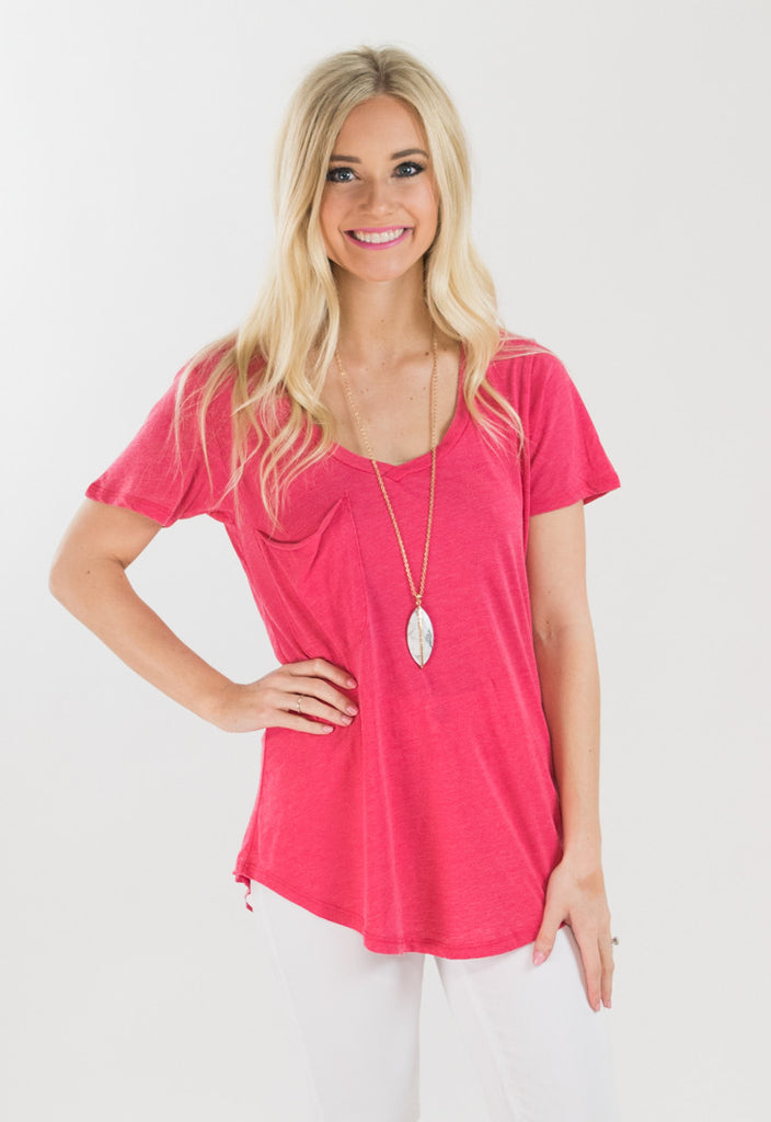 Pocket Tee by Z Supply - Pink