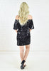 Sequins Off Shoulder Dress