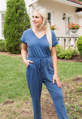 Naomi V Neck Jumpsuit