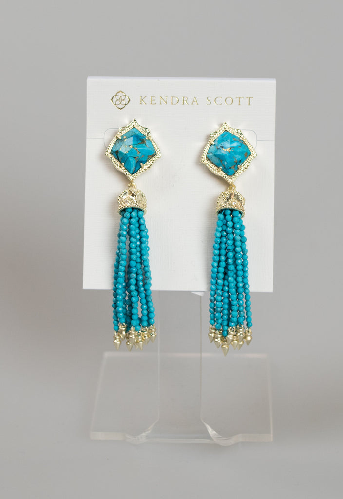 Kendra Scott: Misha Earring - Gold Bronze Turq