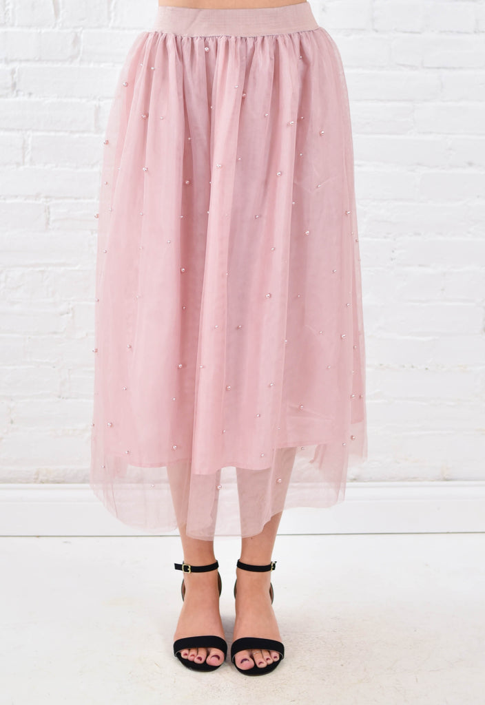 Sarah J Blush Pearl Skirt