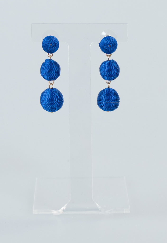 Mini Gumball Earrings - Royal Blue