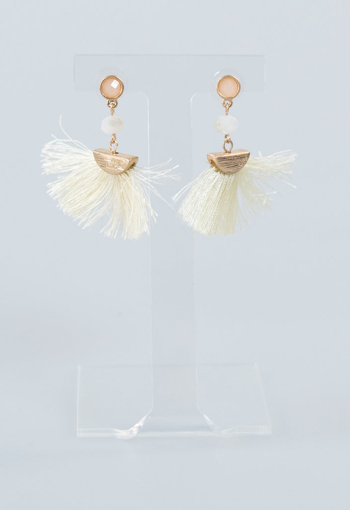 Fanny Fringey Summer Earrings - Ivory