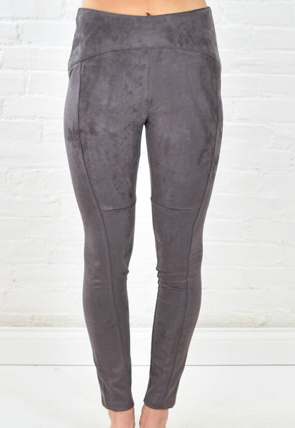High Rise Suede Leggings