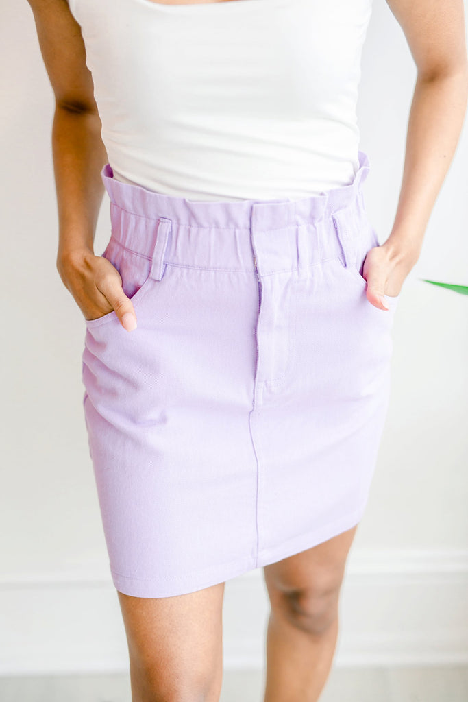 Bright & Bubble Denim Skirt