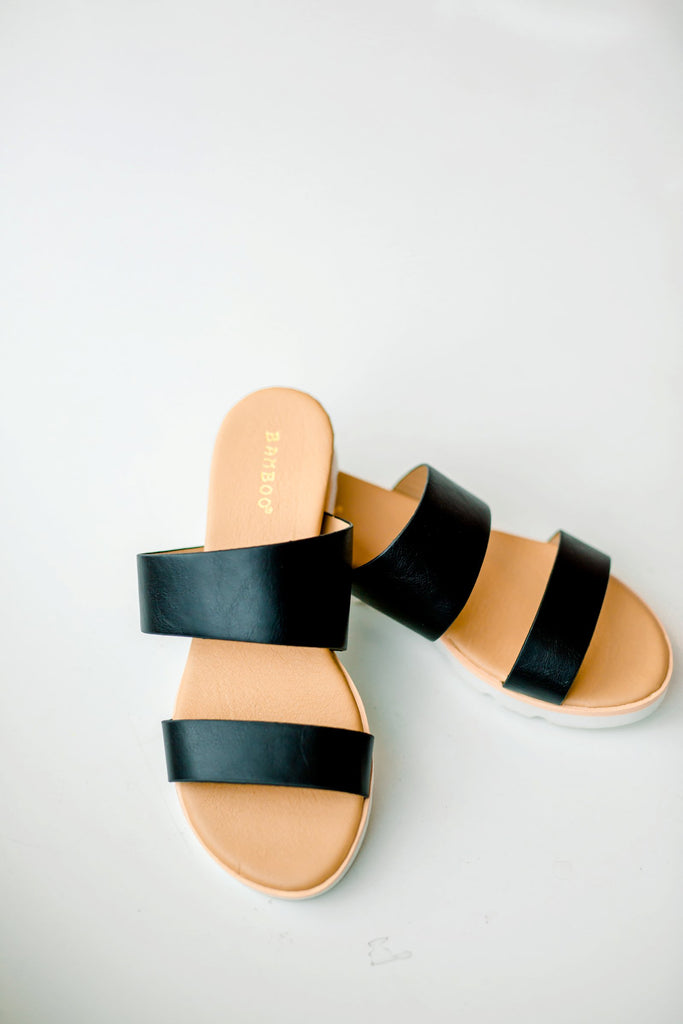 Right on Time Summer Slides - Black