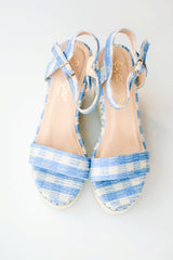 The Blair Gingham Wedge