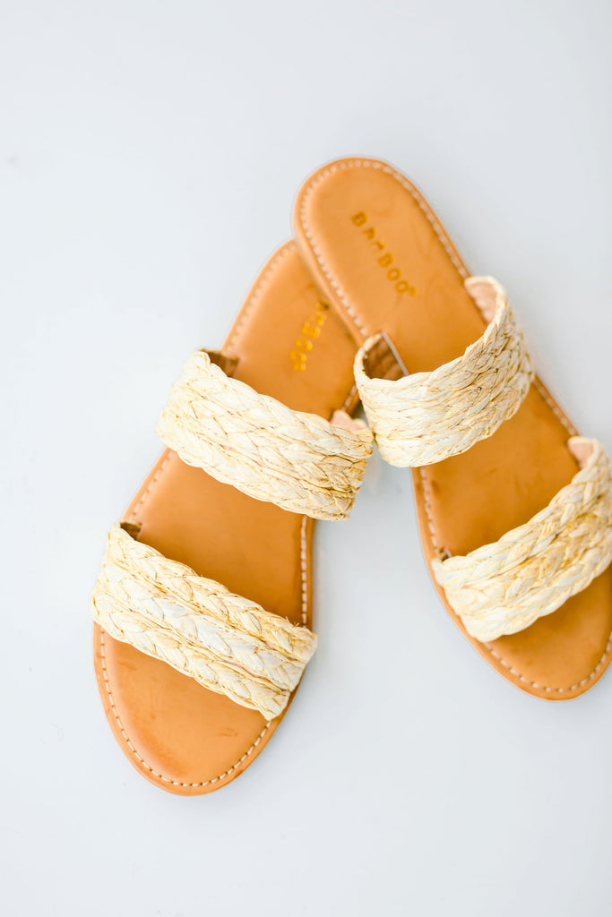 The Ashton Raffia Slides