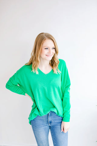 Because of You Casual Sweater - Green