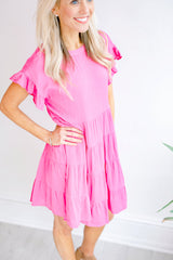 It's Been Awhile Babydoll Dress - Magenta