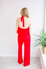Bed of Roses Keyhole Jumpsuit