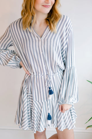 Keller Adjustable Stripe Dress