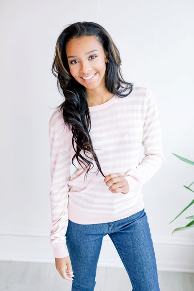 Spring in Your Step Lightweight Sweater - Blush