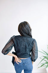 It's Basic Embroidered Wrap Blouse