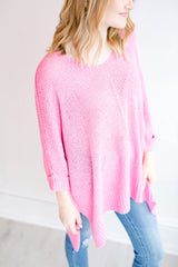 Spring Calling Sweater Top - Candy Pink