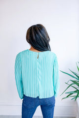 River Flows Pleated Cropped Blouse
