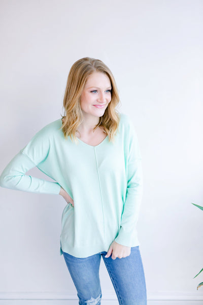 Spring Has Sprung Tunic Sweater - Mint