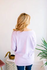 Spring has Sprung Tunic Sweater - Lavender