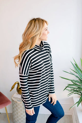 Zebra Vibes Turtleneck Sweater