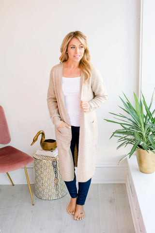 The Cloudspun Cardigan - Taupe