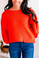 Sun City Cropped Sweater