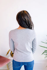 Charlotte Pullover Sweater - Grey