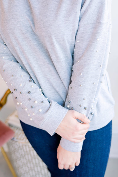 Rise Above Pearl Sleeve Sweater