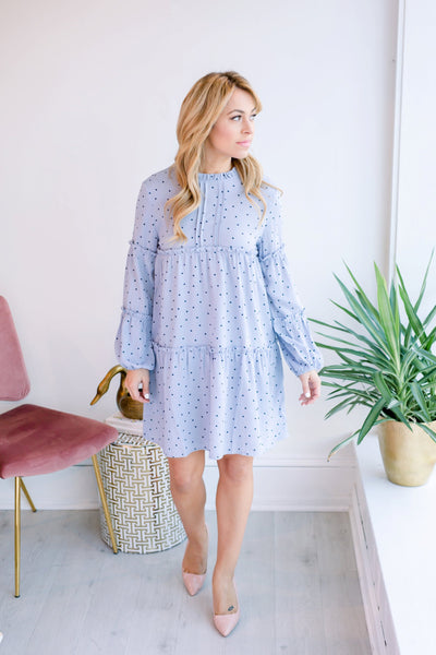Sherbs Babydoll Polka Dot Dress