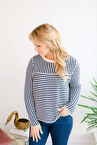 Happy Ending Striped Sweater